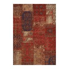 kalora cathedral red cream blue antique patchwork area rug lowe s canada