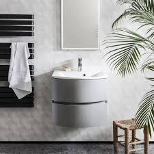 bauhaus svelte 60 wall hung vanity unit with basin