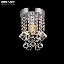 1 light crystal chandelier mini light fixture small clear crystal re lamp for aisle stair hallway corridor porch light mini light fixture crystal