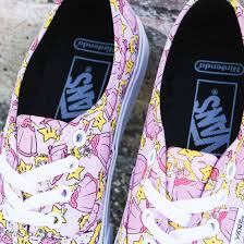 vans x nintendo. vans x nintendo women authentic - princess peach (pink)