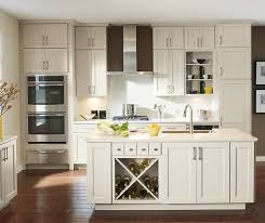 off white shaker cabinets. off white caldera cabinets in casual kitchen shaker o