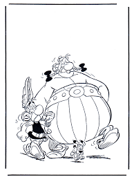 Asterix En Obelix Kleurplaat Asterix