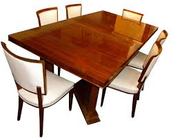 ... Dining Room Table, Appealing Brown Rectangle Traditional Wood Art Deco  Dining Table With 6 Chairs ...