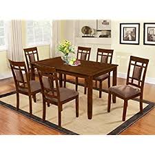 cherry dining table. The Room Style 7 Piece Cherry Finish Solid Wood Dining Table Set