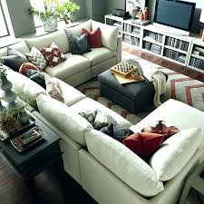 u shaped couch large sectional sofa living room leather corner grey l sofas 6 covers target for
