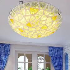 Fancy lighting Hall Modern Mediterranean Sea Round Glass Ceiling Lights Fancy Ceiling Lights For Living Room Bedroom Ac90260v Y1015 Finike Lights Modern Mediterranean Sea Round Glass Ceiling Lights Fancy Ceiling