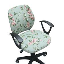 computer chair slipcover. Simple Slipcover Office Chair Covers Spandex Computer Slipcover Flower Printed  Removable Rotating Stretch To