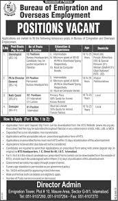bureau of emigration and overseas employment islamabad jobs