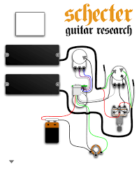 schecter basses, ultra, scustoms Schecter Wiring Diagrams Guitar Research Active Pickups
