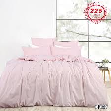 blush linen cotton vintage wash quilt doona cover set queen king super king