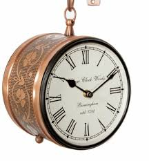 imperial double sided wall clock