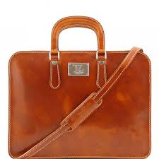 tuscany leather alba women s leather briefcase 1 compartment honey tl140961 3