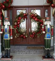 christmas door-ornaments design Holiday Decorating Nutcraker Doubledoors  MODInteriors