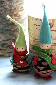 Christmas Craft Eab Designs Pine Cone Elves Diy Christmas Craft