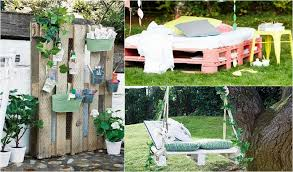 pallet furniture garden. Pallet Furniture Garden