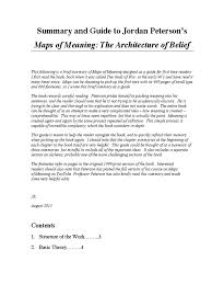 summary and guide to maps of meaning the architecture of belief summary and guide to maps of meaning the architecture of belief by peterson psychological concepts psychology cognitive science