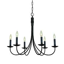 wrought iron chandelier candle artcraft lighting wrought iron in light ebony black