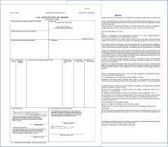 Free Printable Editable Certificates Impressive Certificate Of Origin Template Manufacturer Statement Of Origin Form