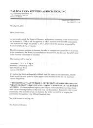 Homeowners Association Letter Templates Template