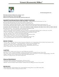Casting Resume Sample Best Of Ernest Konnects Miles Entertainment Resume Pdf
