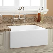 24 risinger reversible fireclay farmhouse sink smooth a white