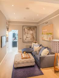 transitional houzz london photo gray walls double duty decorating tips for small living room guest five