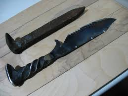 diy forge. you can easily forge a knife like this by following my guide diy