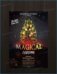 Free Christmas Flyer Templates Psd Amazing Free Download Magical