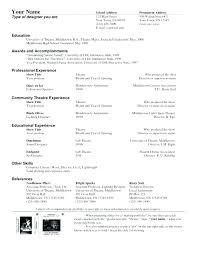 Theatrical Resume Template Child Actor Resume Sample Child Acting ...