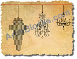 archblocks chandeliers cad symbols