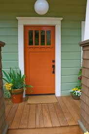 Orange front door Modern Bold Bright And Beautiful Orange Front Door Homebnc Bold Bright And Beautiful Orange Front Door Homebnc