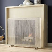 131 best fireplaces screens and accessories images on pertaining to brushed nickel fireplace screen regarding encourage