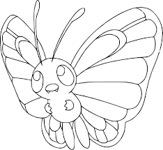 Small Picture Pokemon Coloring Pages Butterfree Coloring Page