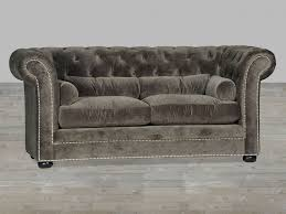 Velvet Chesterfield Sofa Awesome Grey Velvet Sofa Chesterfield Style Silver  Button Tufted