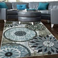 blue area rug 5x7 new medallion nylon area rug gray blue navy brown living room bedroom blue area rug 5x7