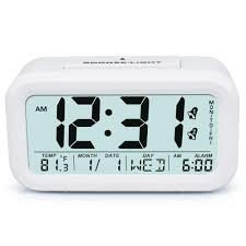easy to set alarm clock best alarm clock for heavy sleepers soft light sensor
