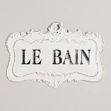french vintage bathroom signs. le bain sign. french bathroom vintage signs a