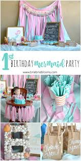 This First Birthday Mermaid Party is beautiful. The whimsical pink and  turquoise theme was further