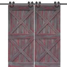 glasscraft model double x barn door 2