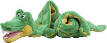 outward hound plush squeaker matz gator dog toy
