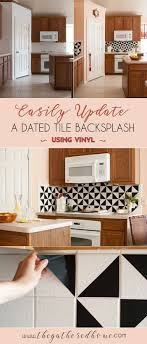 i love the look of trendy black and white cement tiles this diy kitchen backsplash