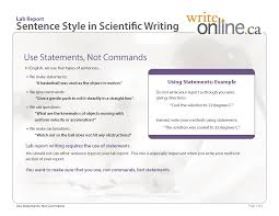 write online lab report writing guide resources lab report sentence style in scientific writing