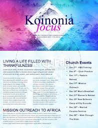 Winter Retreat Church Newsletter Template Template