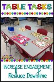Preschool Classroom Design Tool Table Tasks A Tool For Decreasing Downtime In The Classroom