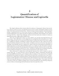 3 Quantification Of Legionnaires Disease And Legionella