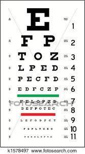 Eye Chart Clip Art K1578497 Fotosearch
