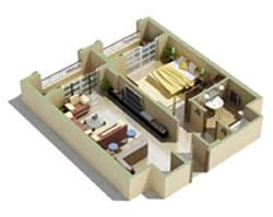 The main distinction between the different types of apartments is the  number of bedrooms, the features and the amenities offered. A studio  apartment is a ...