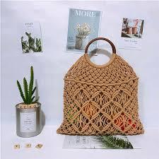 <b>Fashion</b> Women Straw Bag Lady <b>Handwoven Rattan</b> Handbags ...