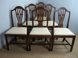 antique set of six 19th century oak camelback georgian design upholstered dining chairs la95905 loveantiques com