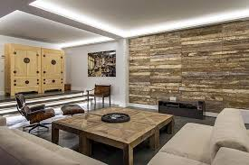 ... in gallery Reclaimed wooden planks create a cool accent wall ...